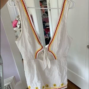 Red, Yellow, and White Romper